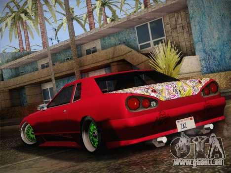 Elegy JDM Style für GTA San Andreas zurück linke Ansicht
