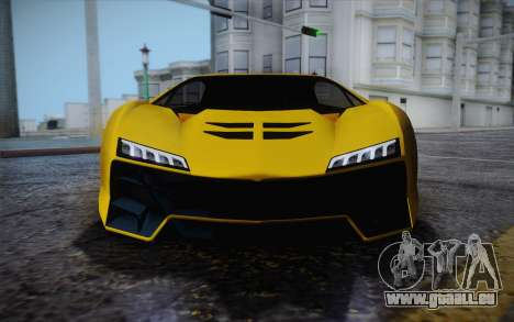 Zentorno из GTA 5 pour GTA San Andreas vue de dessous