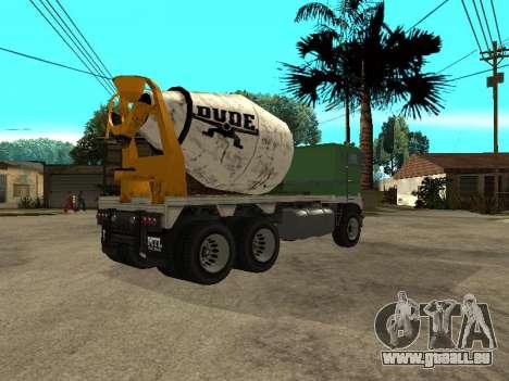 Ciment transporteur de GTA 4 pour GTA San Andreas vue de droite