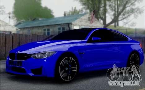 BMW M4 pour GTA San Andreas vue de droite