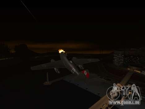 Messerschmitt Me.262 Schwalbe pour GTA San Andreas sur la vue arrière gauche