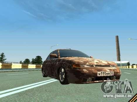 VAZ 2110 camouflage pour GTA San Andreas vue intérieure