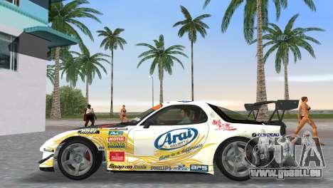 Mazda RX7 FD3S RE Amamiya Arial pour GTA Vice City sur la vue arrière gauche