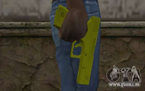 Golden Glock 18C pour GTA San Andreas troisième écran