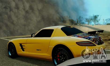 Mercedes SLS AMG Hamann 2010 Metal Style pour GTA San Andreas vue de dessus