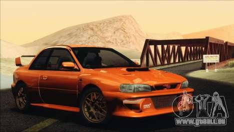 Subaru Impreza 22B STi 1998 pour GTA San Andreas sur la vue arrière gauche
