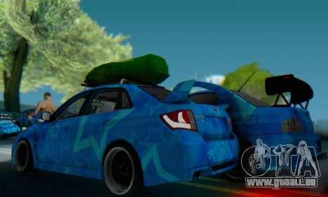 Subaru Impreza Blue Star pour GTA San Andreas vue de droite