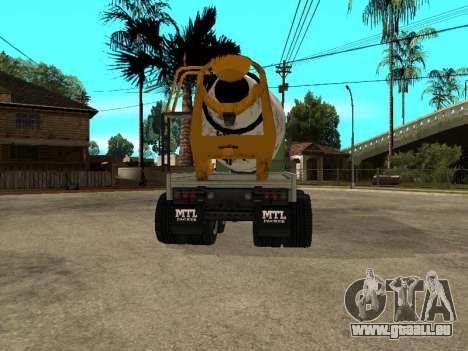 Ciment transporteur de GTA 4 pour GTA San Andreas sur la vue arrière gauche