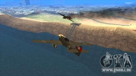 Messerschmitt Me.262 Schwalbe für GTA San Andreas rechten Ansicht