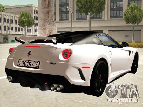 Ferrari 599 GTO pour GTA San Andreas moteur