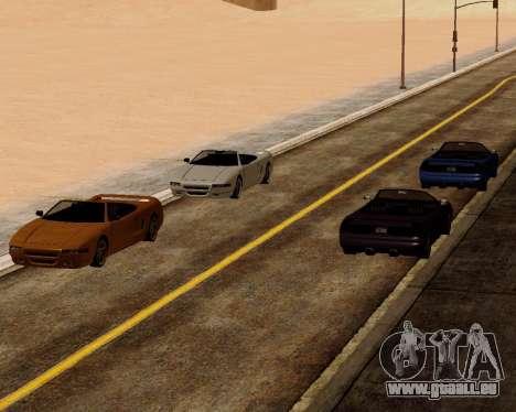 Infernus Convertible pour GTA San Andreas vue de droite