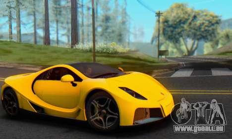 GTA Spano 2014 IVF pour GTA San Andreas vue de droite