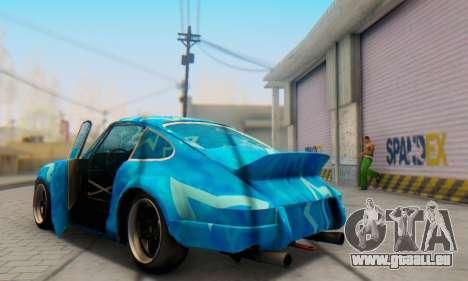 Porsche 911 Blue Star pour GTA San Andreas vue de côté