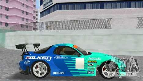 Mazda RX7 FD3S RE Amamiya Falken pour une vue GTA Vice City de la droite