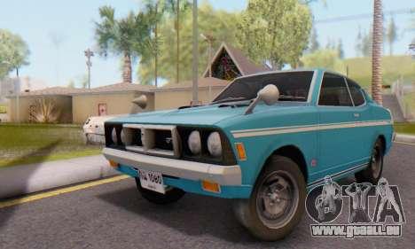 Mitsubishi Galant GTO-MR pour GTA San Andreas sur la vue arrière gauche