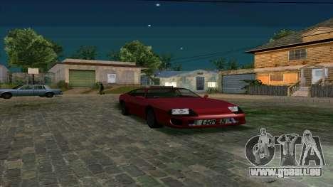 New Jester HQ pour GTA San Andreas sur la vue arrière gauche