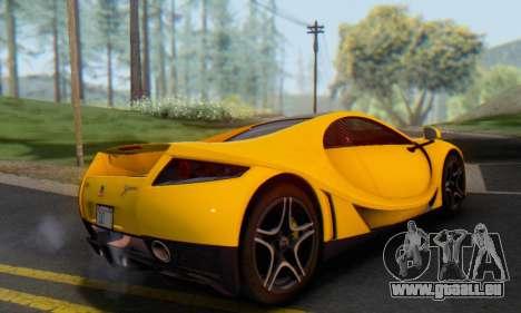 GTA Spano 2014 IVF für GTA San Andreas Rückansicht