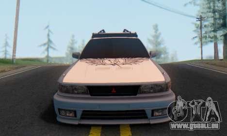 Mitsubishi Galant Generation Rock 1992 für GTA San Andreas Rückansicht