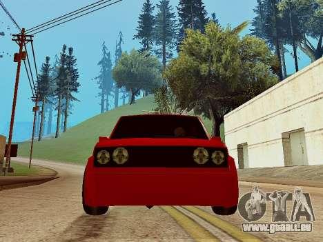 Club Sport pour GTA San Andreas sur la vue arrière gauche
