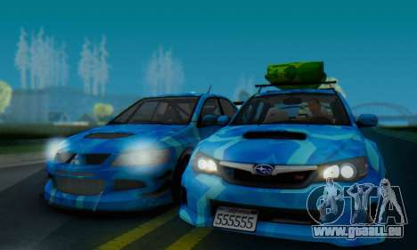 Subaru Impreza Blue Star für GTA San Andreas zurück linke Ansicht