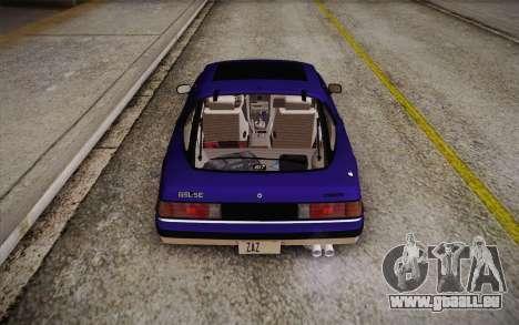Mazda RX-7 GSL-SE 1985 HQLM für GTA San Andreas obere Ansicht