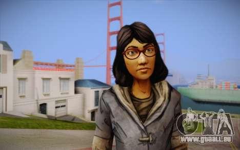 Sarah из The Walking Dead pour GTA San Andreas troisième écran