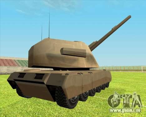 Rhino tp.RVNG-AM cal.155 pour GTA San Andreas laissé vue