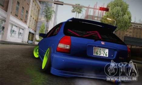 Honda Civic EK9 2000 Hellflush für GTA San Andreas linke Ansicht