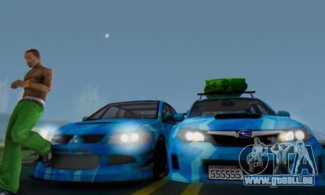Subaru Impreza Blue Star pour GTA San Andreas vue intérieure
