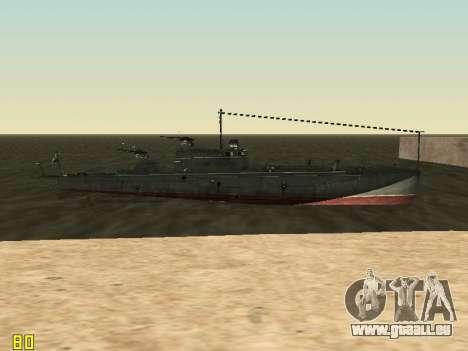 Le torpilleur type G-5 pour GTA San Andreas vue de dessus