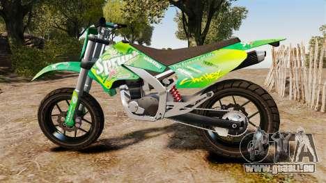 GTA V Maibatsu Sanchez wheels v2 pour GTA 4 est une gauche