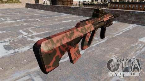 Machine Steyr AUG A3 Rouge tigre pour GTA 4 secondes d'écran