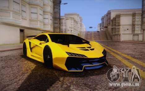 Zentorno из GTA 5 für GTA San Andreas