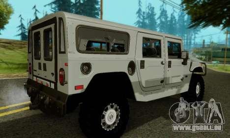 Hummer H1 Alpha pour GTA San Andreas vue de dessous