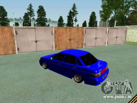 VAZ 2110 für GTA San Andreas zurück linke Ansicht