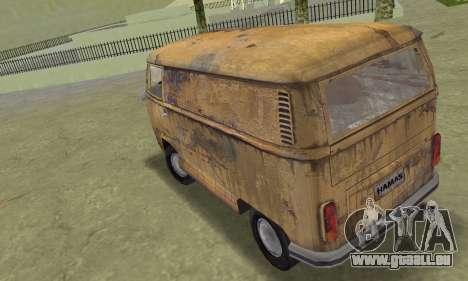 Volkswagen T2 Super Rust pour une vue GTA Vice City de la gauche