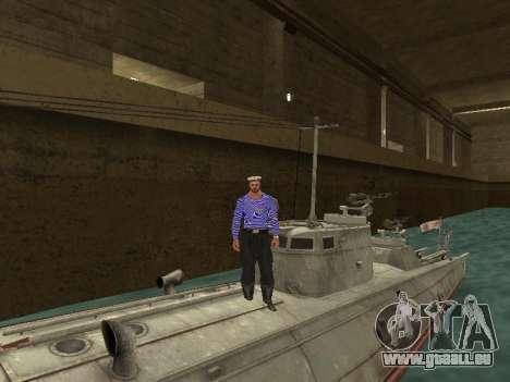 Le torpilleur type G-5 pour GTA San Andreas vue de dessous