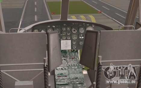 UH-1 Huey für GTA San Andreas Rückansicht