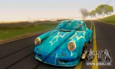 Porsche 911 Blue Star pour GTA San Andreas laissé vue