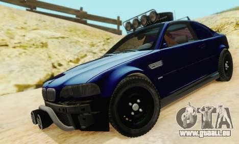 BMW M3 E46 Offroad Version pour GTA San Andreas vue de côté