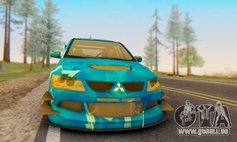 Mitsubishi Lancer Evolution IIIX Blue Star pour GTA San Andreas vue de droite
