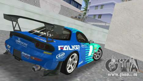 Mazda RX7 FD3S RE Amamiya Falken für GTA Vice City linke Ansicht
