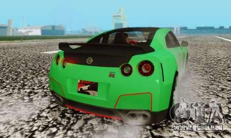 Nissan GTR Streets Edition für GTA San Andreas Rückansicht