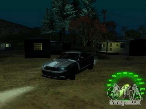 Le compteur de vitesse dans le style d'un néon pour GTA San Andreas deuxième écran