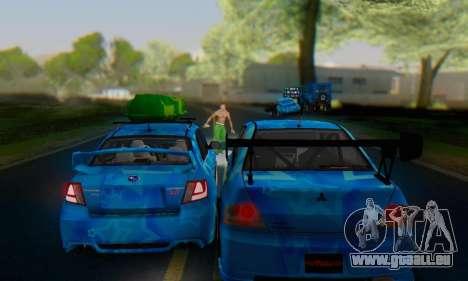 Subaru Impreza Blue Star pour GTA San Andreas vue de côté