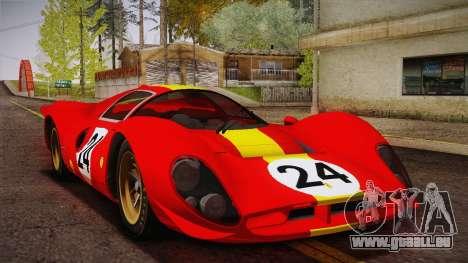 Ferrari 330 P4 1967 IVF für GTA San Andreas Innen