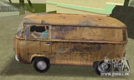 Volkswagen T2 Super Rust pour GTA Vice City sur la vue arrière gauche