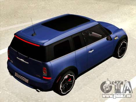 Mini Cooper Clubman JCW pour GTA San Andreas vue intérieure