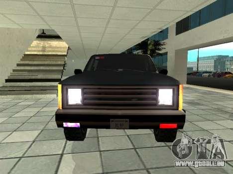 SWAT Original Cruiser für GTA San Andreas Rückansicht