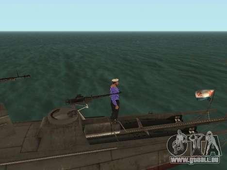 Le torpilleur type G-5 pour GTA San Andreas salon